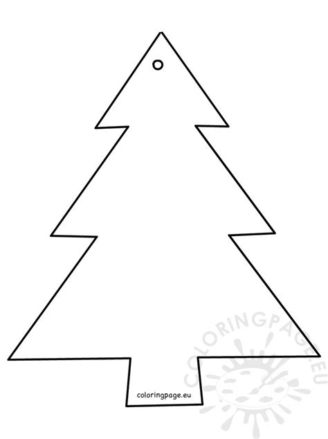 christmas tree shape cut out coloring page