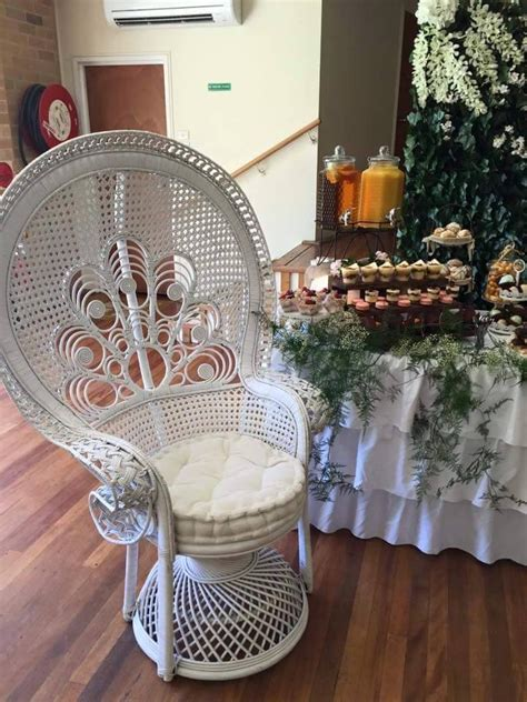 white peacock chair hire white peacock chair prop my events hire