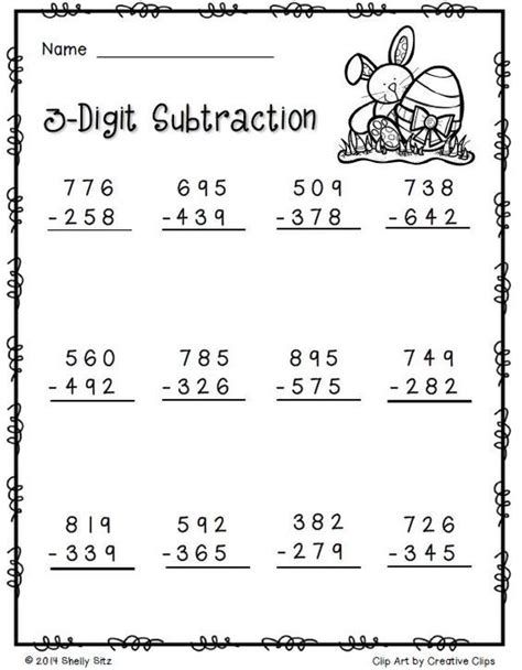 easter multiplication worksheets 2 nbt 7 easter math free 2nd grade math quot ejercicios