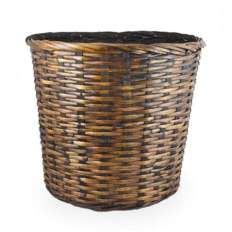 brown stain rattan planter basket the lucky clover trading co