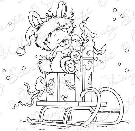 christmas bunny coloring pages 7 best wee sts images on pinterest digi sts
