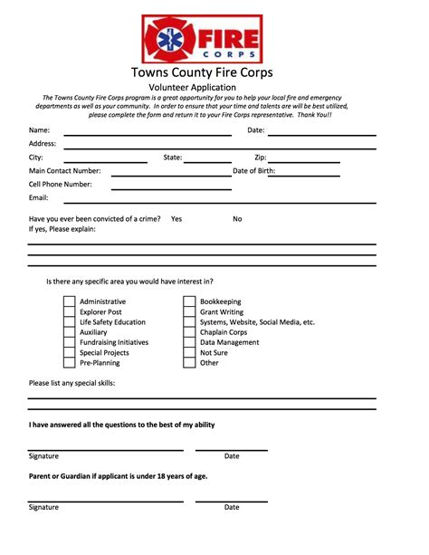 volunteering form templates volunteer application form printable pictures to pin on