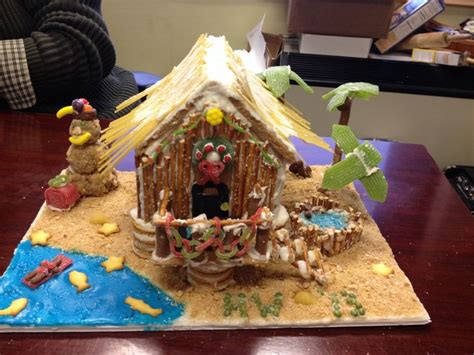 gingerbread beach house beach themed gingerbread house food is essential to life