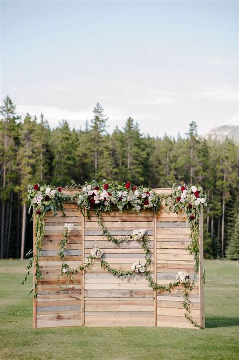 Wedding Ceremony Backdrop by Banff Indie Wedding Photographer 046 Ceremony Decor