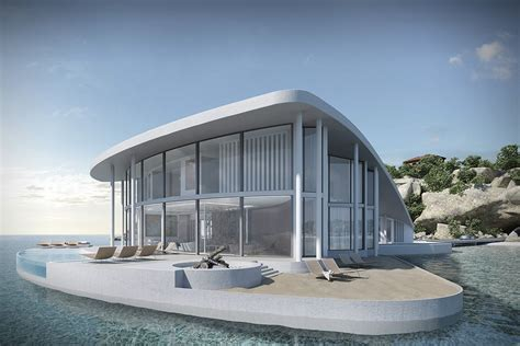 Modern Sleek Design stingray floating house by tangram 3ds hiconsumption