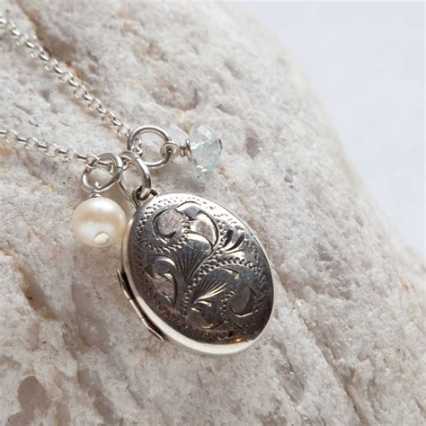 Vintage Silber by Vintage Silver Locket Necklace Www Pixshark Images