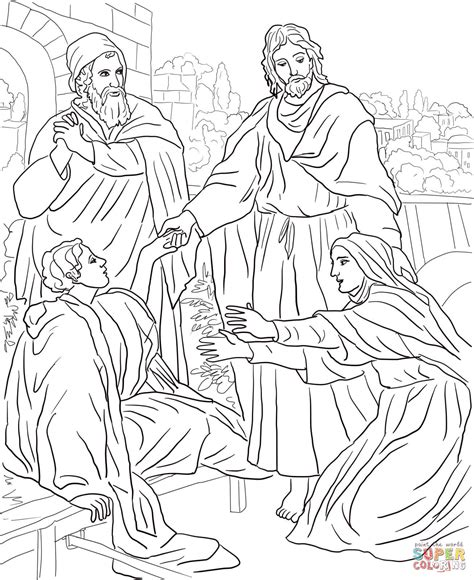 coloring page jesus and lazarus jesus raises lazarus coloring page coloring home