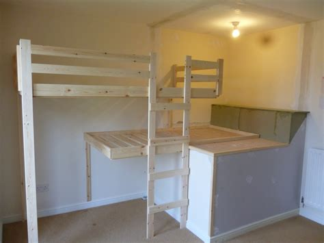 Diy Built In Bunk Beds Loft Beds Bedroom Inspiration Popular Unfinished Oak Built In Bunk Beds With Simplistic