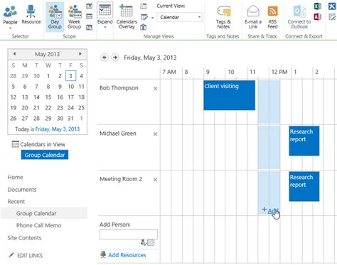 sharepoint calendar template how to reserve resources on the calendar in sharepoint