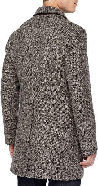billy reid tweed astor car coat  gray  men lyst
