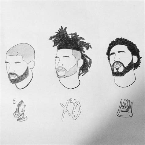 J Cole Drawing Easy by Curlymafiaa Masterpiece