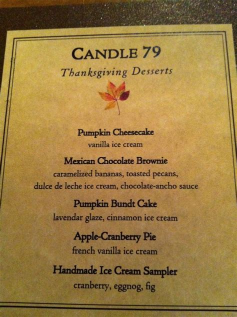 Candle Light Menu by Thanksgiving Dinner At Candle 79 Jl Goes Vegan