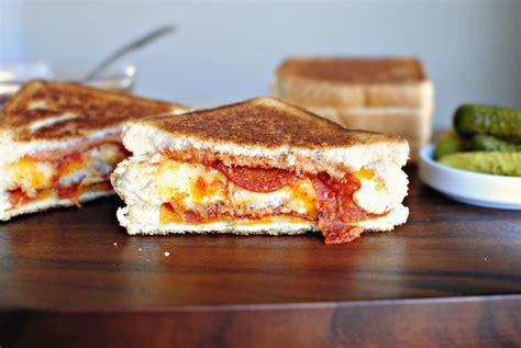 Sandwich Pizza Mozarela simply scratch grilled decker pizza sandwich simply scratch
