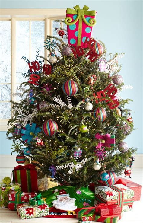 pier xmas party pier 1 pink present d 233 cor tops a tree with assorted
