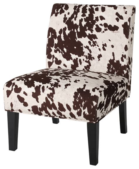 Cow Print Chair by Kalee Yellow And Gray Fabric Dining Chair Set Of 2