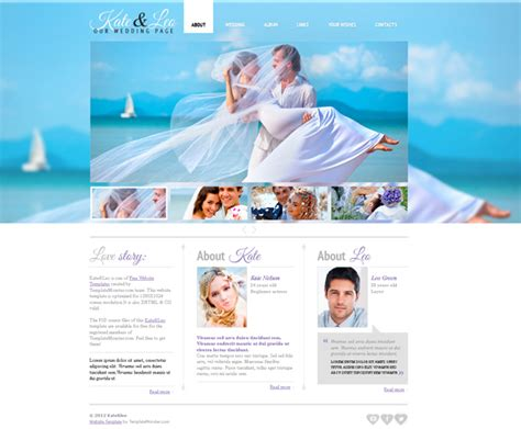 Free Jquery Wedding Page Web Template Template Jquery Website Templates
