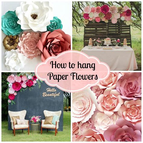 How To Make Paper Flowers For Wedding Decorations - diy paper flower backdrop for wedding and events paperflora