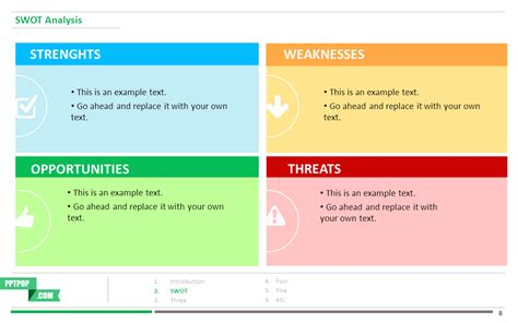 Boost Your Presentation With This Swot Analysis Ppt Template Pptpop Actionable Presentation Swot Analysis Powerpoint Template Free