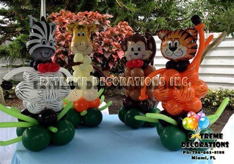 tiger centerpieces jungle theme balloon centerpieces tiger zebra monkey