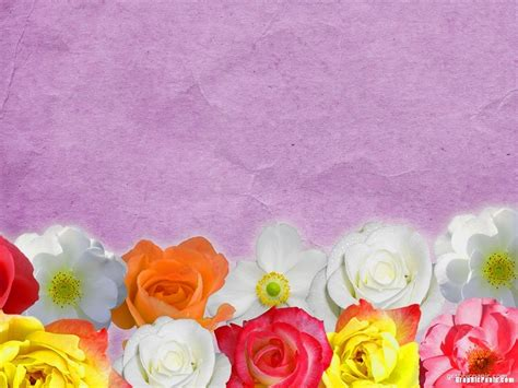 colorful flower background powerpoint background amp templates
