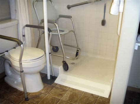 Bath Showers For Elderly roll in shower conversion kit by ameriglide
