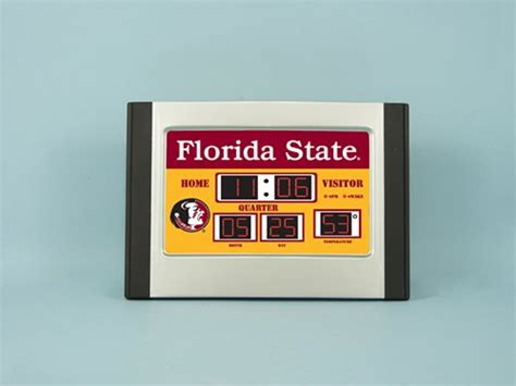 ncaa official team logo scoreboard alarm clocks