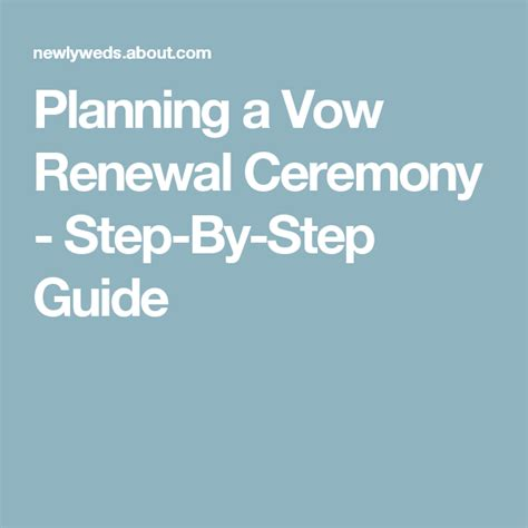 Wedding Anniversary Planning by Your Checklist For Planning A Vow Renewal Ceremony Vow