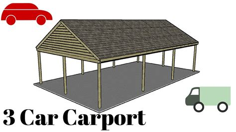 3 Car Carport Plans by 3 Car Carport Plans