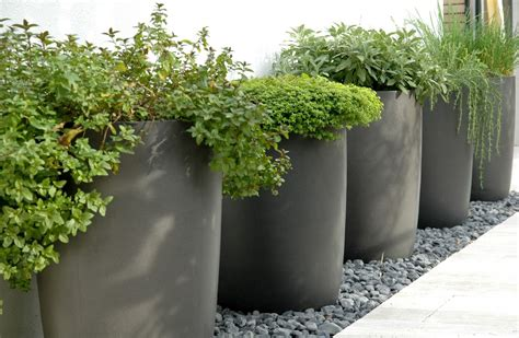 rooftop patio design large outdoor planter garden pots