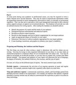 report template format 8 business report templates free sles exles