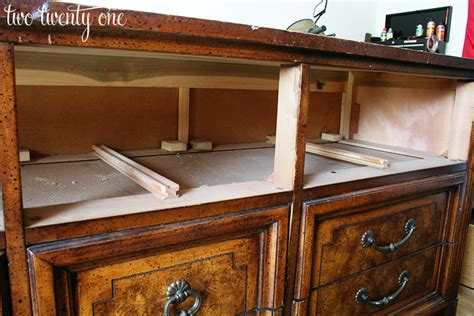 What To Do With An Dresser by How To Turn A Dresser Into A Tv Stand Diy Two Twenty One