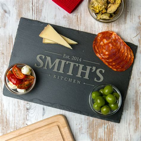 cooking board personalised family slate chopping board by dust and