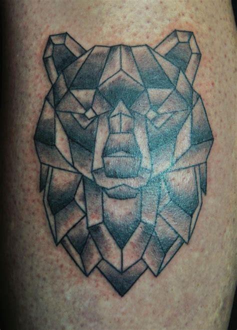 simple geometrical bear tattoo tattoomagz