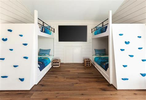 in wall bunk beds built in bunk beds with climbing wall transitional boy