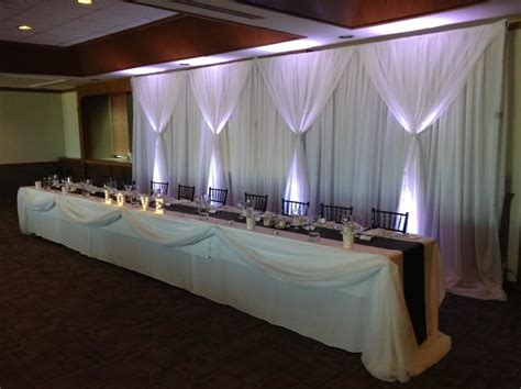 head table draping wedding d 233 cor manitoba creating a scene inc