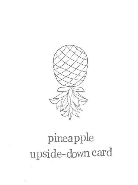 upside down card best 25 pineapple puns ideas on pinterest