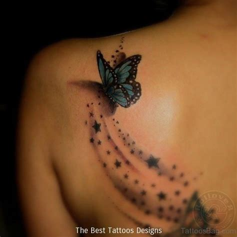 17 best butterfly and star tattoo on shoulder