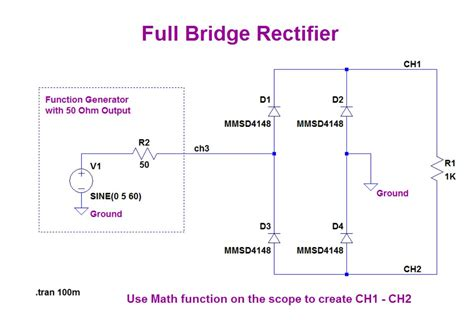 wiring diagram bridge rectifier wiring diagram