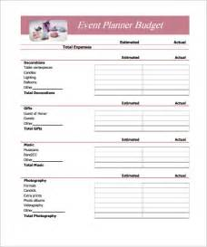 Free Budgets Templates Simple Budget Template 14 Download Free Documents In