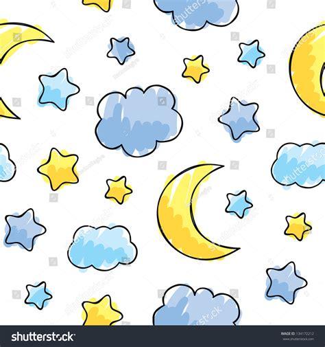 sleep pattern en français pattern night sky elements hand drawn stock vector