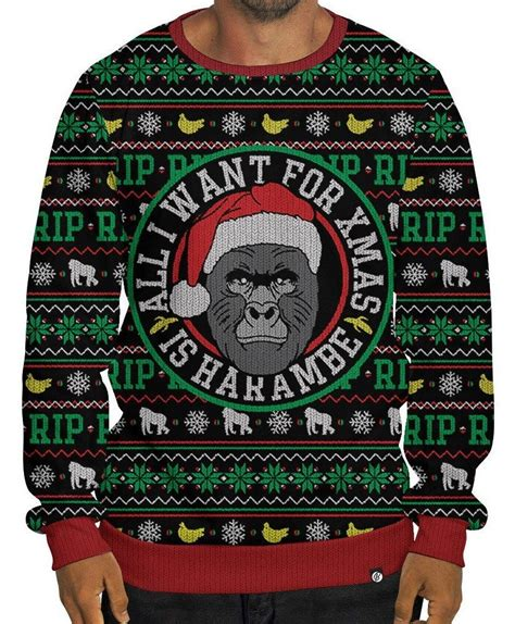 Sweater Harambe get your needlessly macabre harambe sweaters