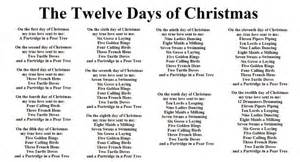 printable lyrics to 12 days of christmas twelve days of christmas lyrics printable www imgkid com