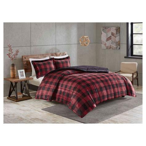 buffalo plaid comforter red black buffalo plaid bedding set target