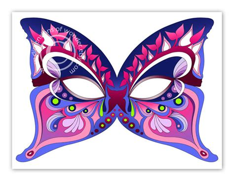 printable halloween masks butterfly by dimensions of