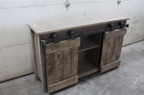 barn console table barn door console forest trek woodwork
