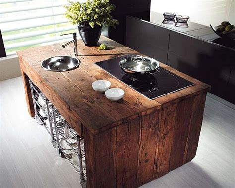 Rustic Kitchen Countertops 44 Reclaimed Wood Rustic Countertop Ideas Decoholic
