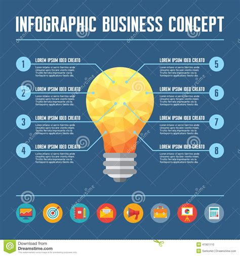 infographic business concept creative idea illustration
