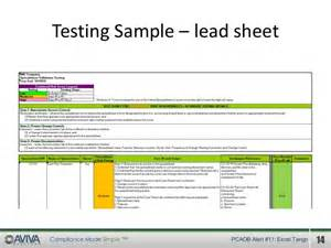 pcaob audit alert 11 new internal control testing
