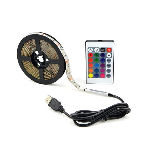 Lu Led 5050 Rgb 16 Colors 2m With Remote Multi Colo 16 colors adjustable usb rgb led light 30 leds m 5050smd l string 0 5m 1m 2m 3m 4m 5m