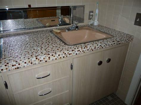 Vintage Bathroom Tile Ideas cindy updates her 50s bathroom vanity tile floor and